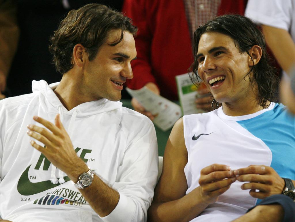 Raphael Nadal vs. Roger Federer before game