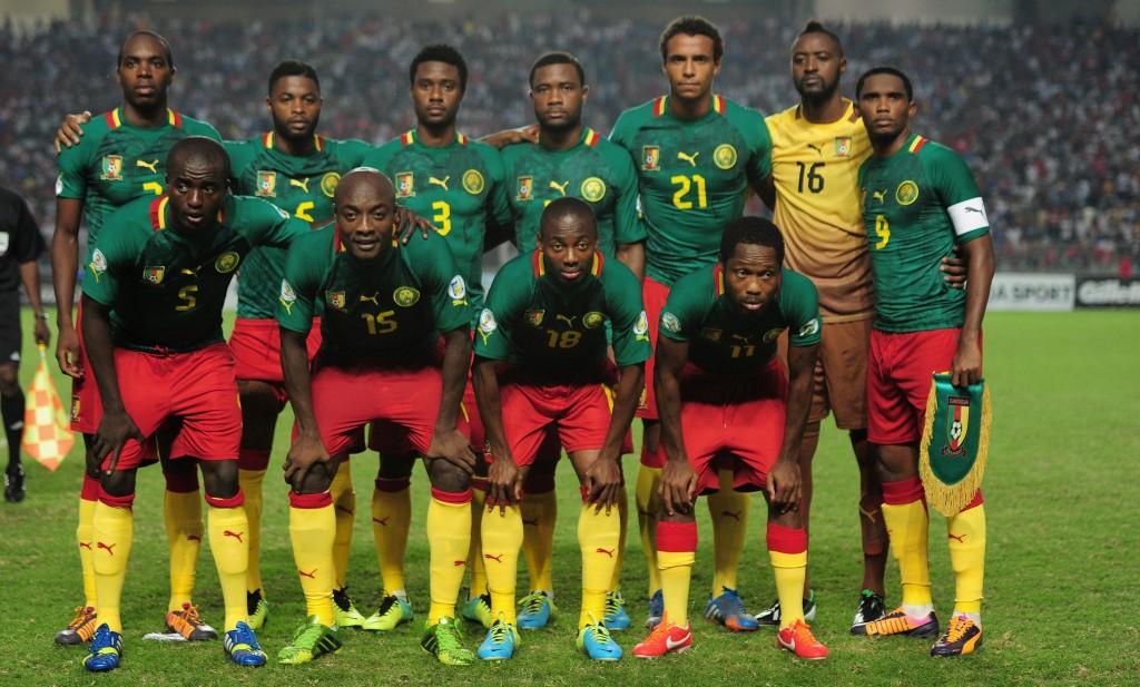 Kamerunin joukkue viimeisessä MM-karsinnassa Tunisiaa vastaan (Getty Images)