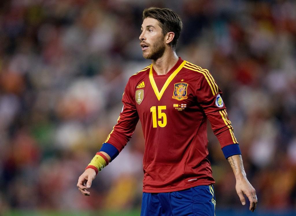 Sergio Ramos karsintaottelussa Georgiaa vastaan