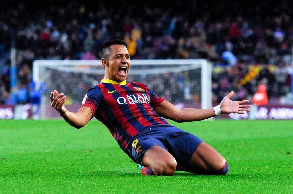 Jatkuuko Alexis Sanchezin juhlinta lauantaina Atlético Madridia vastaan? (David Ramos/Getty Images)