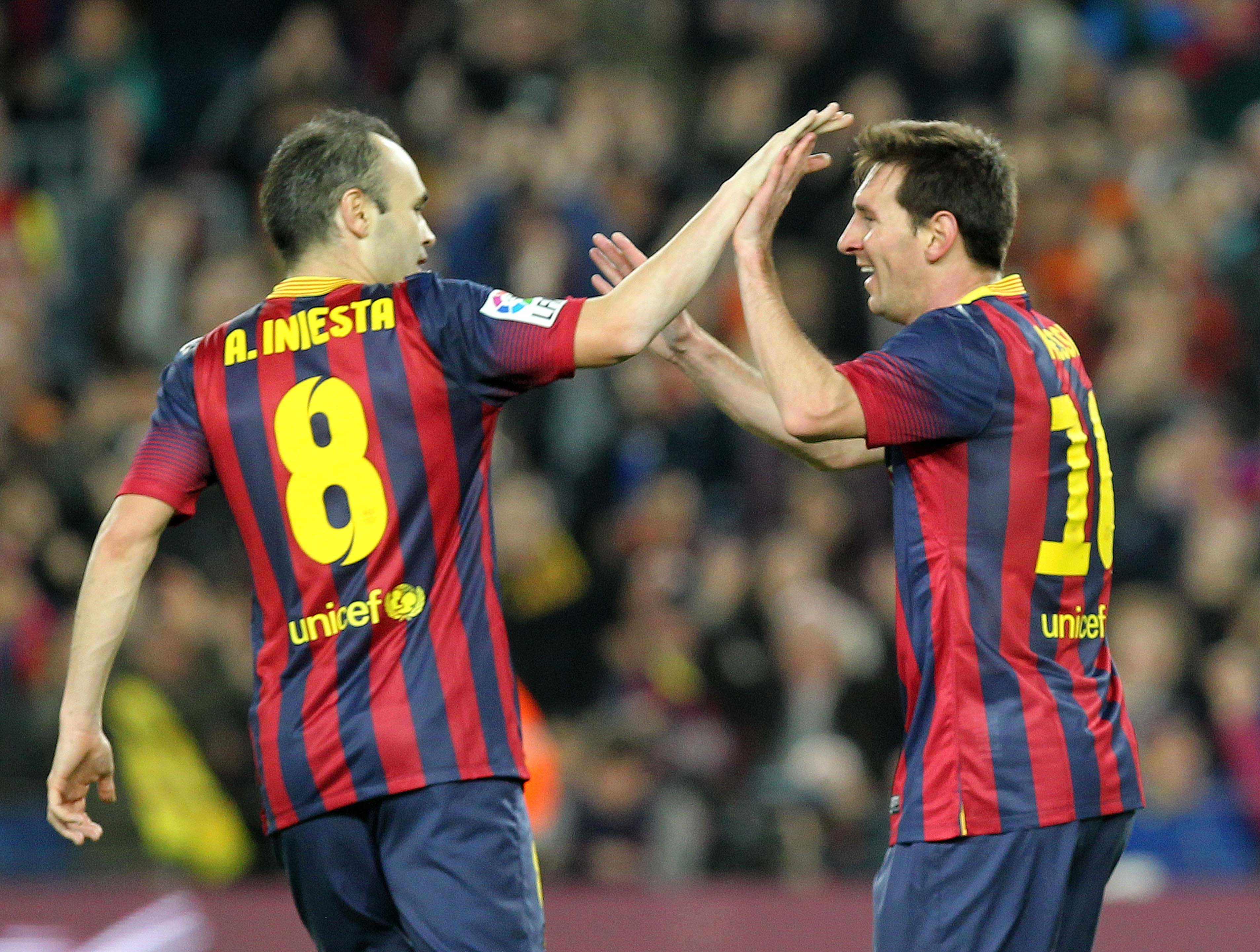 Iniesta ja Messi testaavat illalla Manchester Cityn puolustuksen (All Over Press)