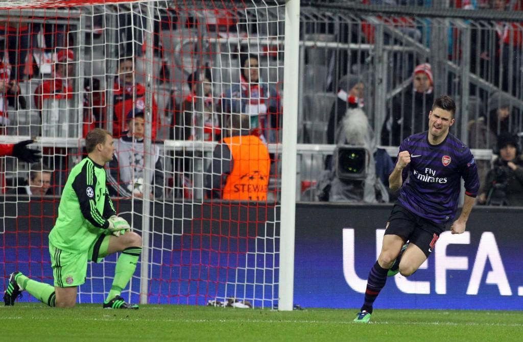 Viime vuoden kohtaamisessa Arsenalin Oliver Giroud pystyi laukomaan joukkueelleen tärkeän avausmaalin. Kuva: All Over Press