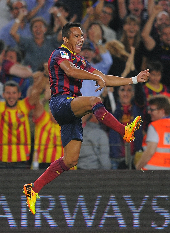 Barcelonan Alexis Sánchez juhli edellisen el clásicon voittomaalia (GettyImages)