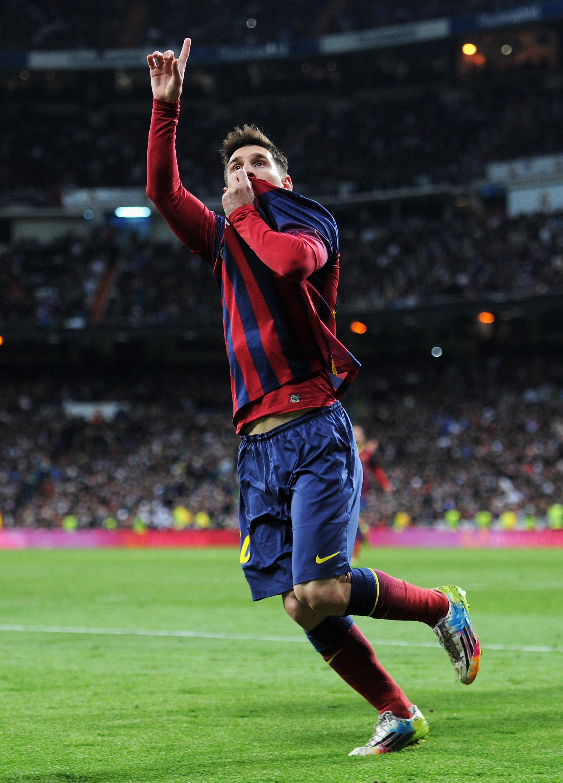 Messi on iskenyt kuusi maalia kahteen otteluun ja antoi Madridia vastaan pelatussa ottelussa merkkejä tulevaisuudensuunnitelmistaan (Getty)
