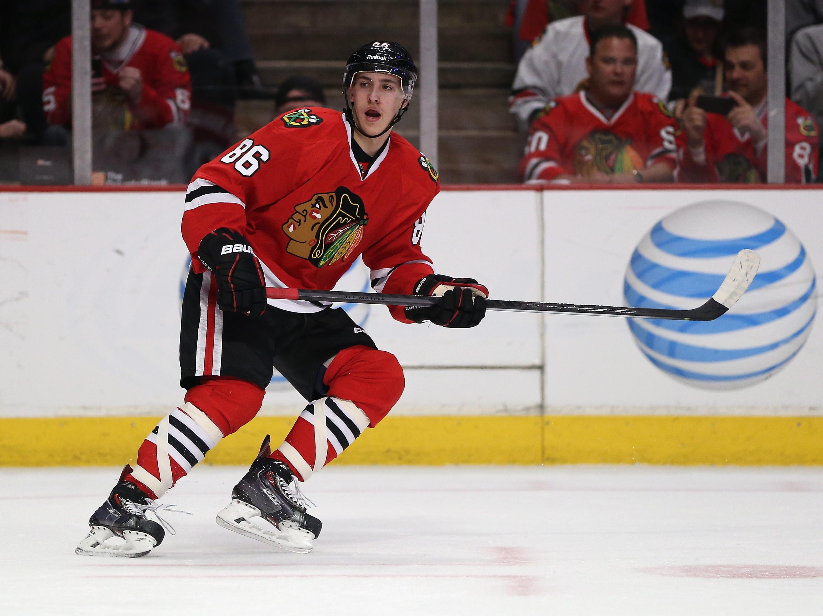 Teuvo Teräväinen pelasi ensimmäisen NHL-ottelunsa Dallasia vastaan (Getty)