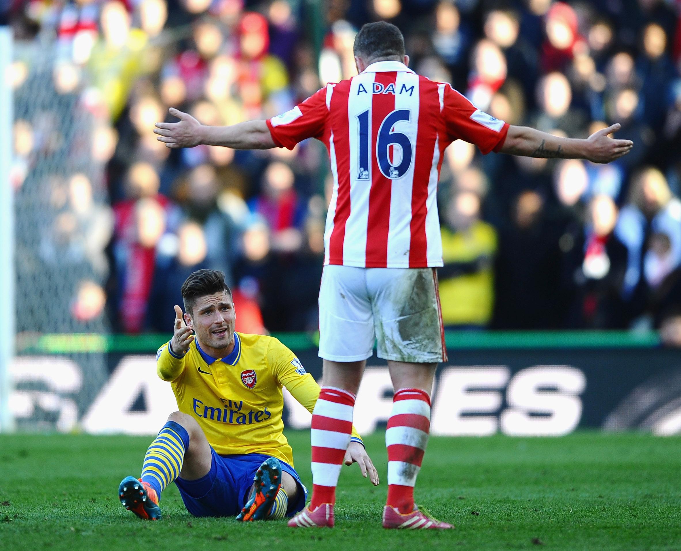 Stoke otti Arsenalista 1-0 voiton viime viikonloppuna (Getty)