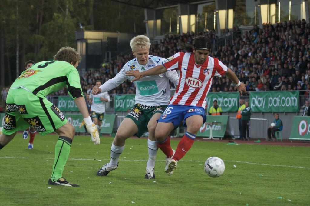 IFK Maarianhaminaa vastaan pelattua harjoitusottelua pidetään Atleticon menestyksen syynä (Matts Häggblom)