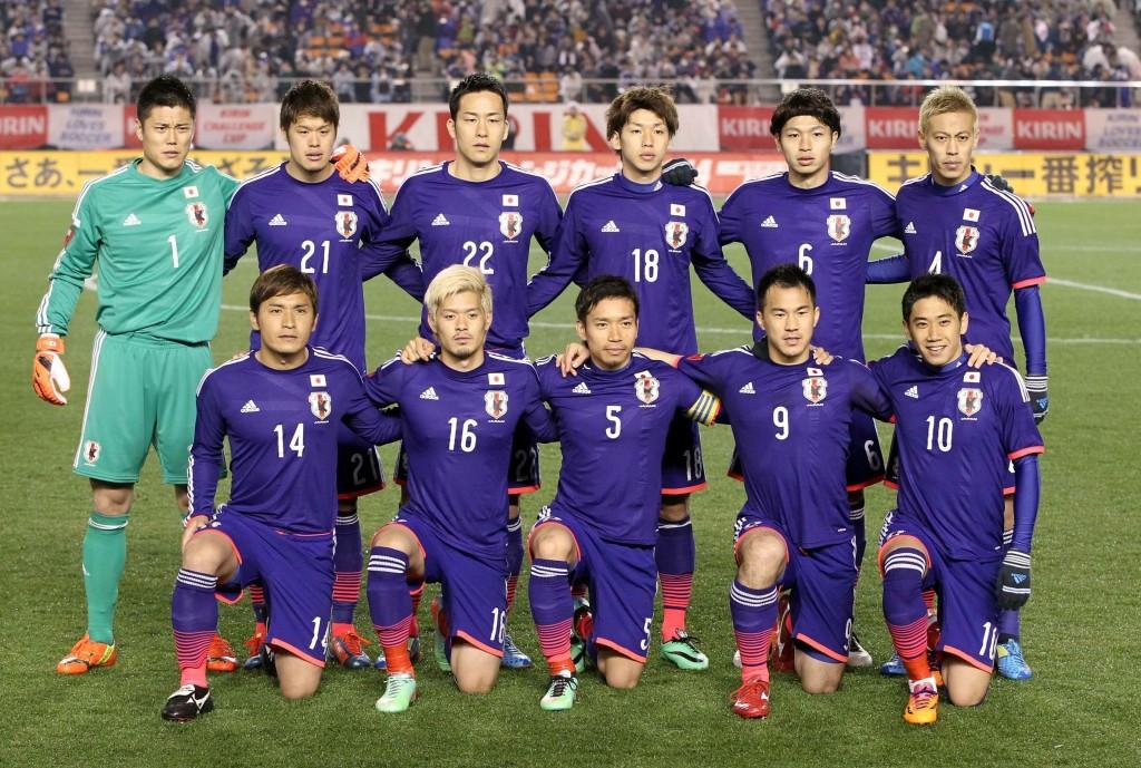 NO SALES IN JAPAN! 2014-3-5 Tokyo, Japan, Mannschaftsfoto Teamfoto, Japan team: hintere Reihe von li