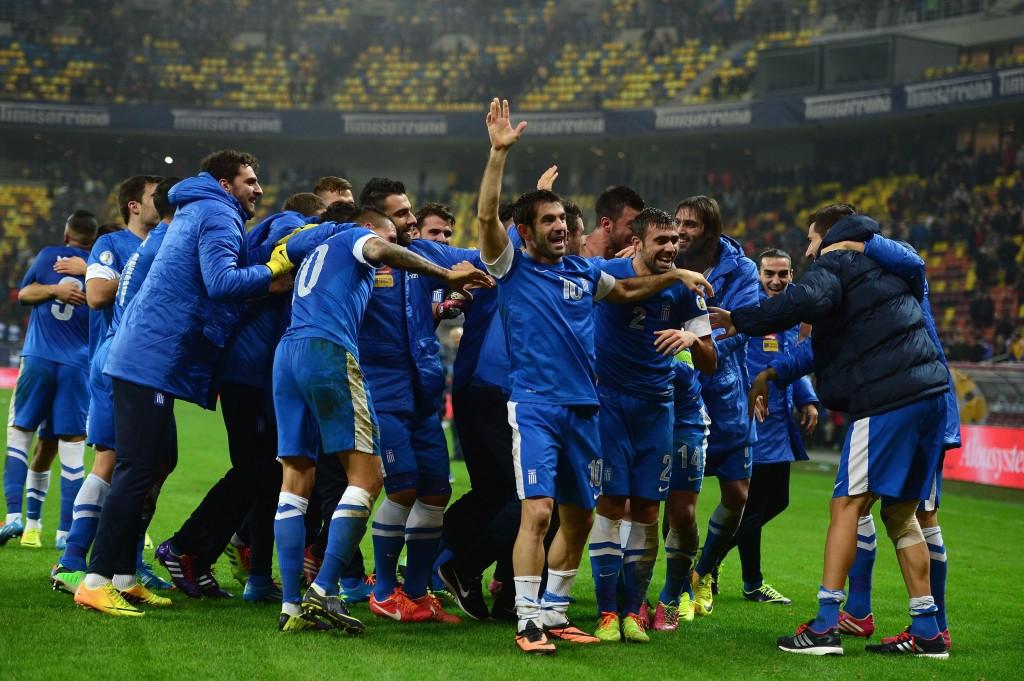 Kreikka on ainoa joukkue F-lohkosta, joka pelaa Brasilian MM-kisoissa (Getty Images)