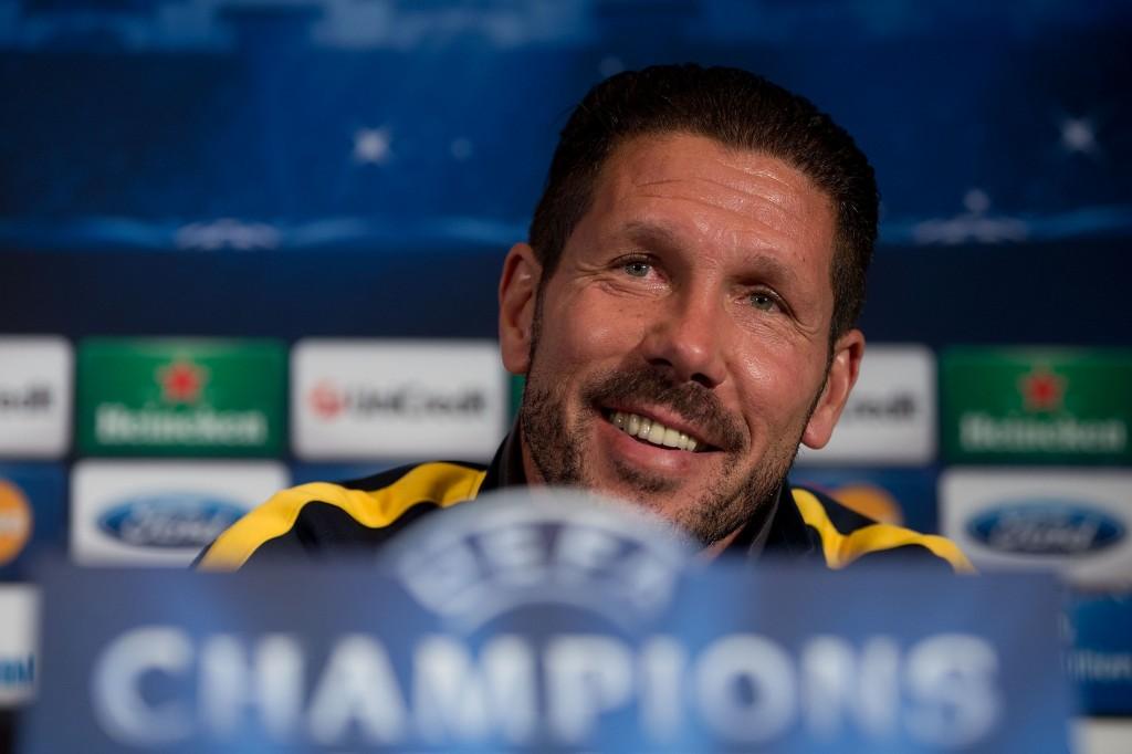 Diego Simeonea naurattaa tuleva Mestarien liigan välierävastus (Getty)