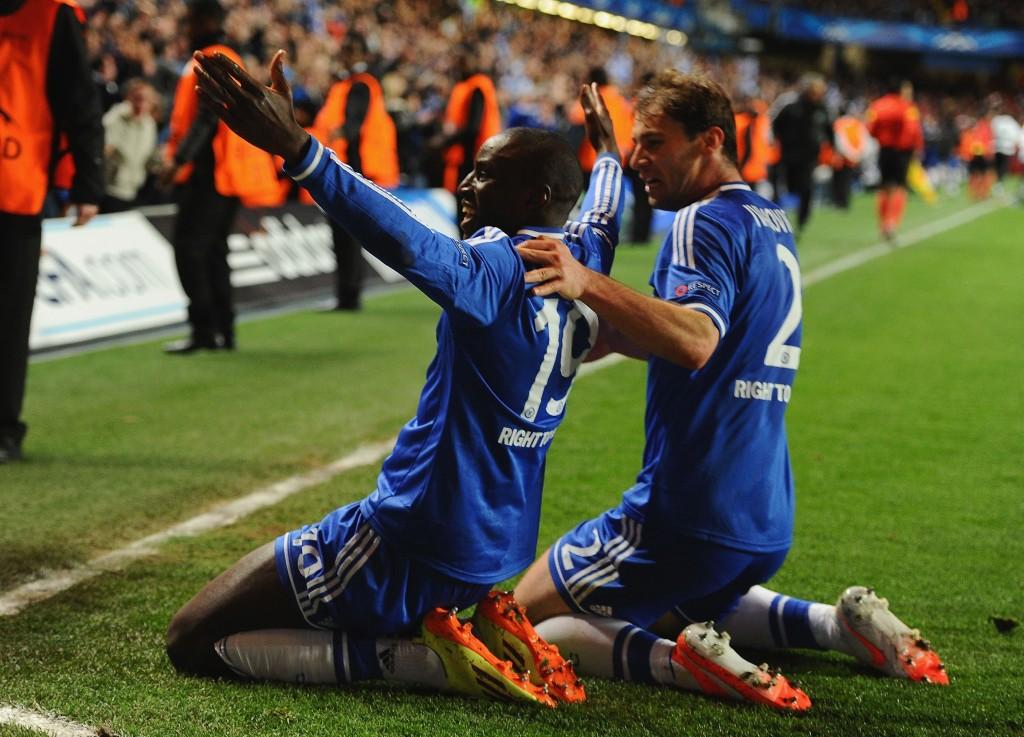 Demba Ba teki Chelsean toisen maalin ja ratkaisi otteluparin (Getty Images)
