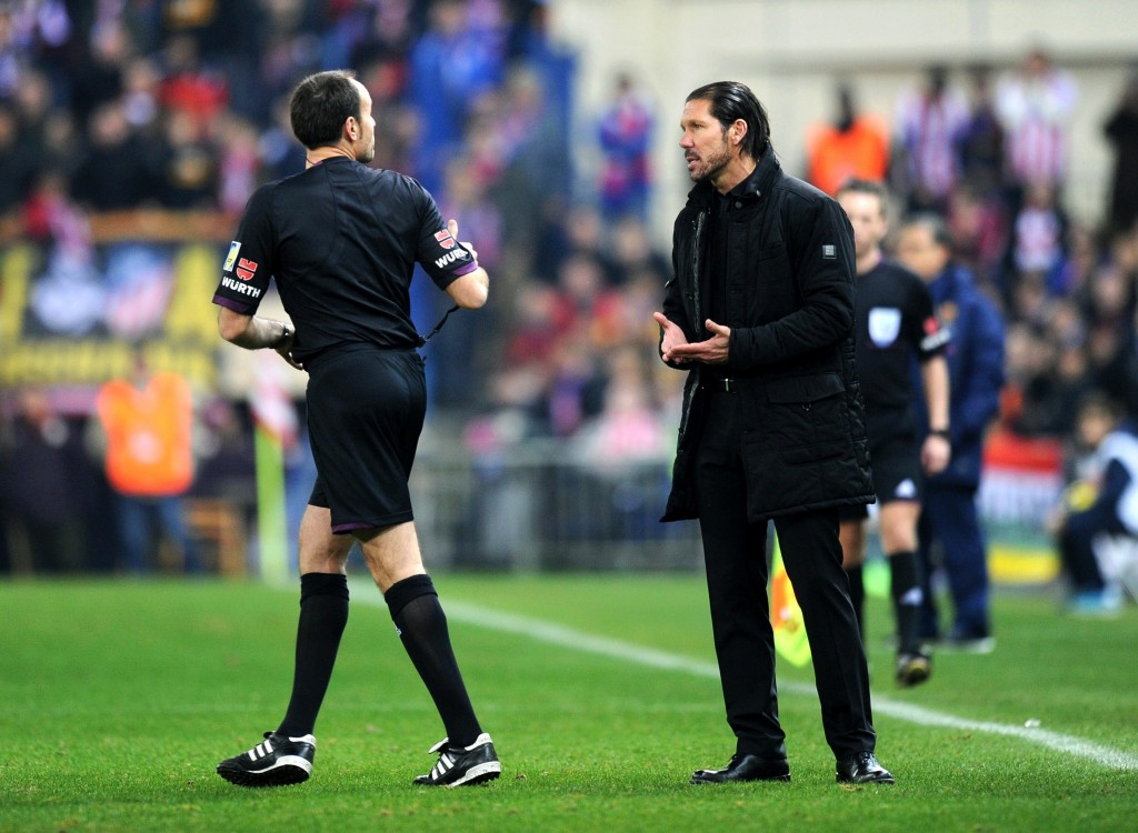 Diego Simeone valmentaa Punavalkoisia kohti La Ligan voittoa (Getty Images)