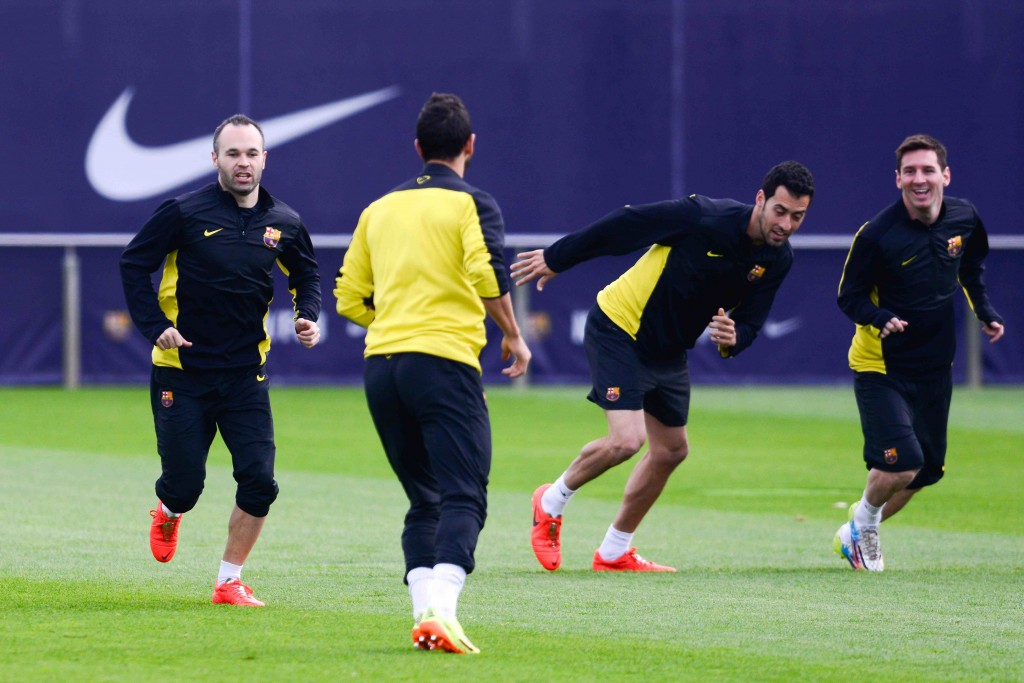 Koska vastassa on kova joukkue, Barcelona joutui harjoittelemaan (Getty Images)