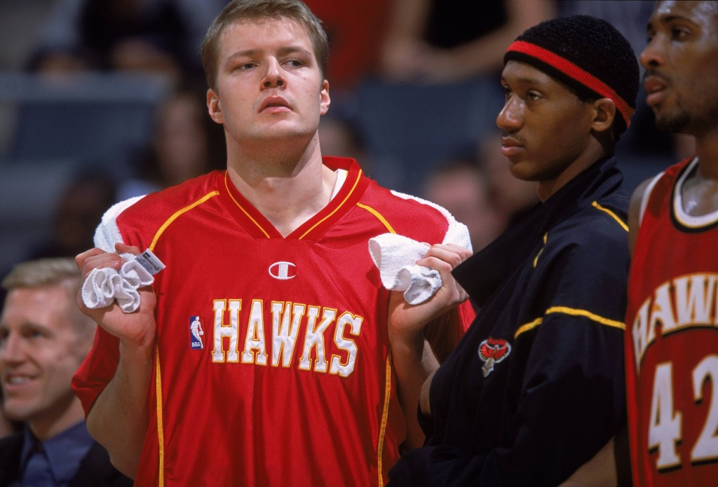 Hanno. Atlanta Hawks. Back in the day. Viimeinen näytön paikka. (Getty Images)