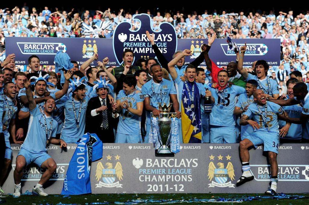 Manchester City juhli mestaruutta viimeksi vuonna 2011-2012 (Getty)