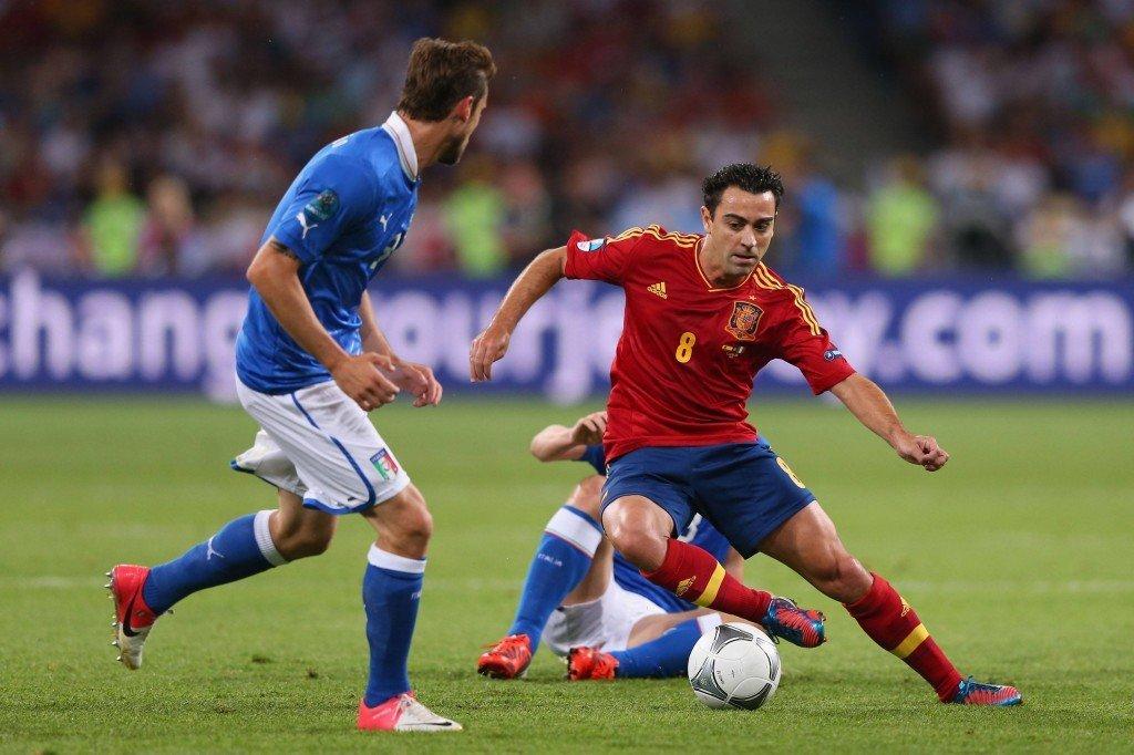 Viimeisiä arvokisojaan Espanjan paidassa pelaava Xavi tavoittelee Brasiliassa uransa toista maailmanmestaruutta (Getty)