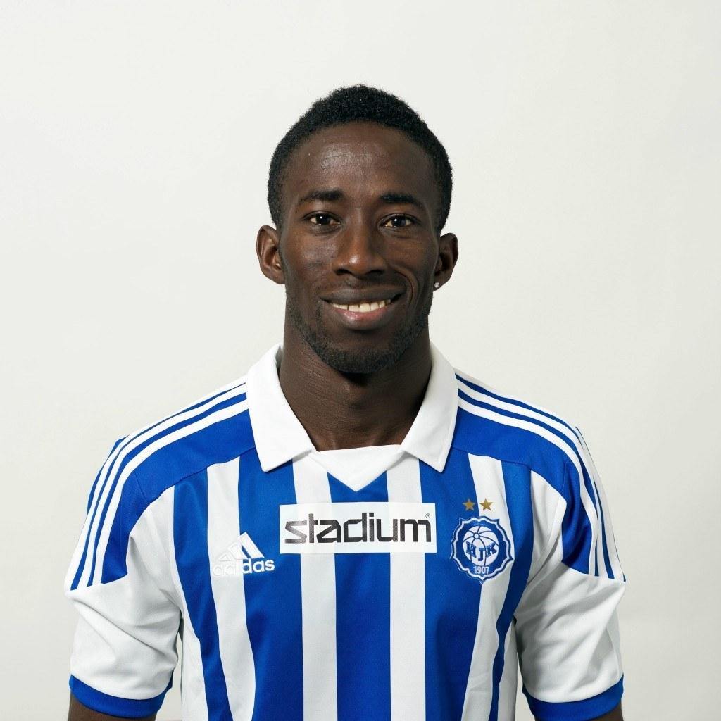 Demba Savage on pelannut Mika Lehkosuon alaisuudessa Hongassa, mutta nyt myös HJK:n riveissä (kuva:Veikkausliiga)