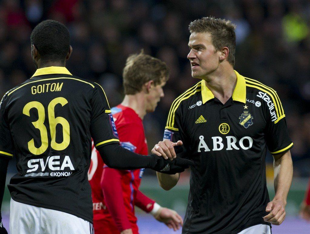 Eero Markkanen on pelannut hyvän kevätkauden AIK:ssa. Mies pelaa ainoastaan Liettua-ottelun Huuhkajissa. (Alloverpress)