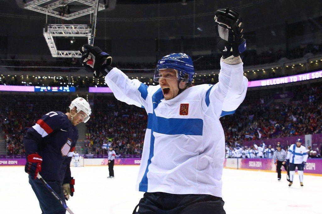 Jussi Jokinen pelasi jo Sotshissa. Riittääkö miehellä virtaa vielä toisiin arvokisoihin jos kausi päättyy pettymykseen Pittsburgh Penguinsissa? (Getty)