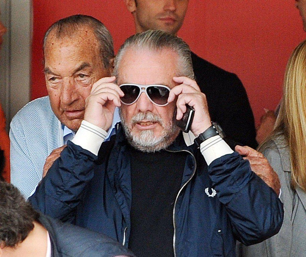 Napolin seurapomo ja elokuvamoguli  Aurelio De Laurentiis on johtanut seuraansa 10 vuoden ajan värikkäästi, mutta onnistuneesti. Kuva: Getty
