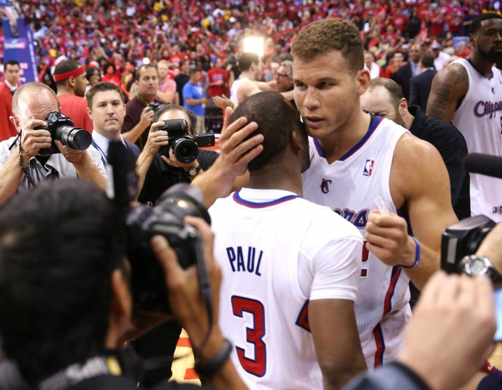 Chris Paulin ja Blake Griffinin Clippers jatkaa seuraavalle kierrokselle (Getty)