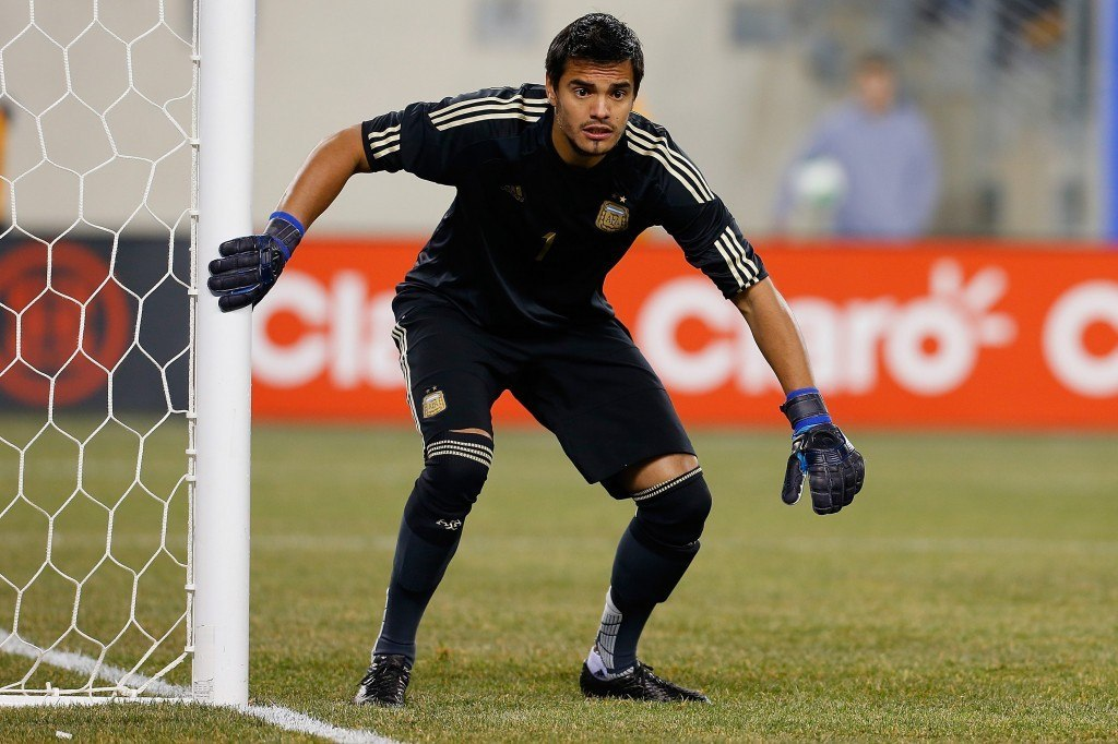 Monacon kakkosmaalivahdiksi vajonnut Sergio Romero on MM-kisojen huippumaiden selkeästi heikoin maalivahti. (Getty)