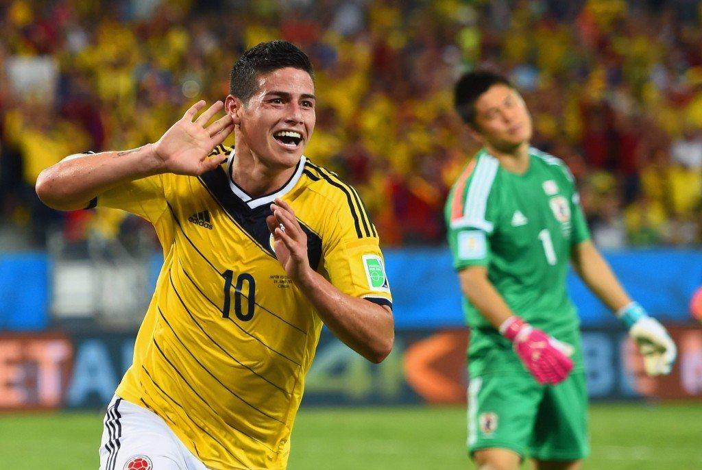 Kolumbian James teki lopullisen läpimurtonsa. (Getty)