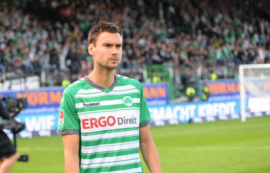 Tim Sparv pelasi vielä viime kaudella Greuther Fürthin väreissä Saksan 2. Bundesliigaa. (AOP)
