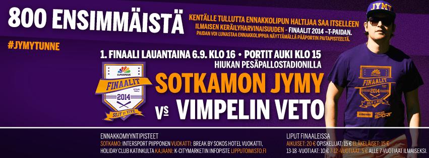 Jymy tarjoaa lauantaina 800 ensimmäiselle ennakkolipun ostajalle keräilyharvinaisuuden - Finaalit 2014 T-paidan. Kuva: SuperJymy Oy