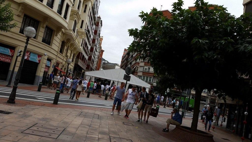 Bilbaon keskusta oli täynnä suomalaisia