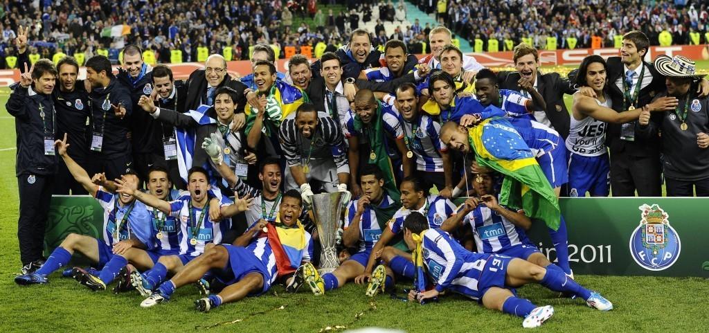 Porto nappasi Eurooppa-liigan voiton Bragan nenän edestä kaudella 2010/11. KUVA: All Over Press.