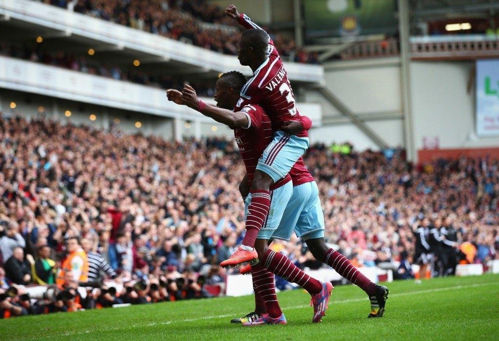 Diafra Sakho ja Enner Valencia ovat kuuluneet West Hamin avainpelaajiin tällä kaudella. KUVA: Getty Images