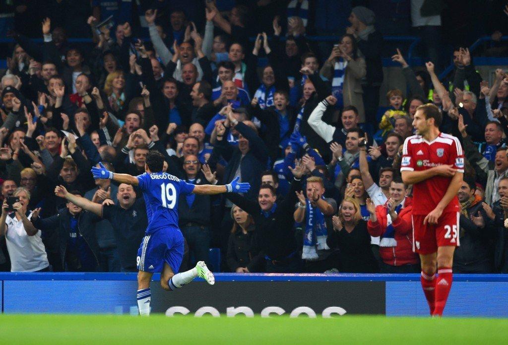Diego Costa on tuulettanut maaliverkkoja tiuhaan tällä kaudella Valioliigassa. KUVA: Getty Images