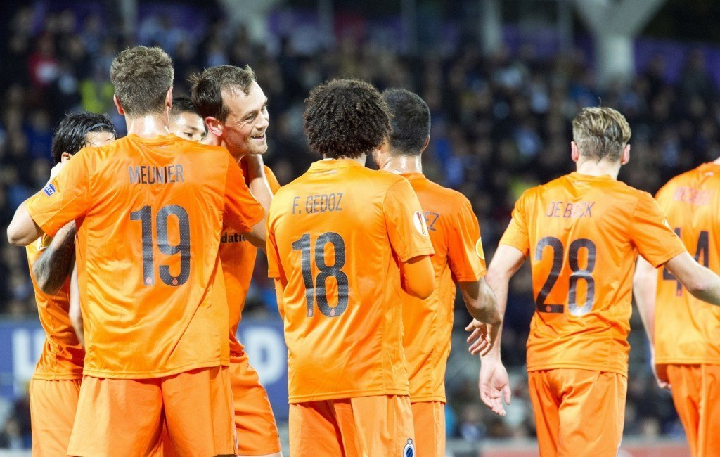 Club Brugge voitti HJK:n lokakuussa Töölön jalkapallostadionilla. KUVA: Getty Images