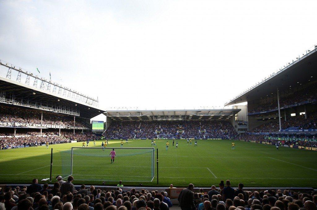 Goodison Park toimii lauantai-iltana Merseysiden derbyn näyttämönä. KUVA: Getty Images