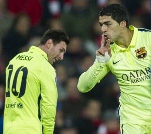 Myös Suarez osui Bilbaota vastaan (Getty)