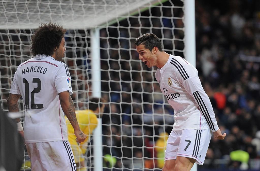 Cristiano Ronaldo ja Marcelo olivat Real Madridin maalintekijät Gelsenkirchenissä. KUVA: Getty Images