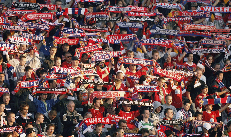 Wislan kannattajat ovat erittäin fanaattisia. KUVA: Getty Images