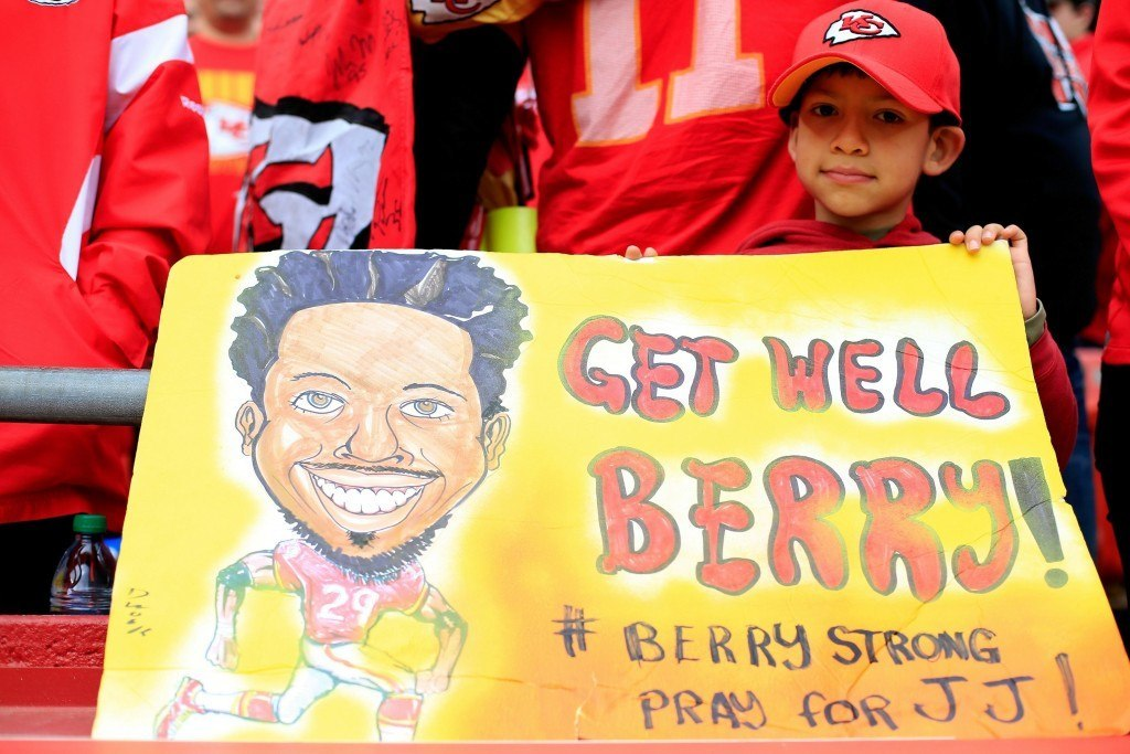 Berry on saanut koko Kansas Cityn puolelleen taistelussa syöpää vastaan.