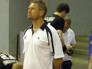 Kaj Kekki Suomen alle 21-vuotiaiden maajoukkueen valmentajana Jaipurissa, Intiassa vuonna 2009.