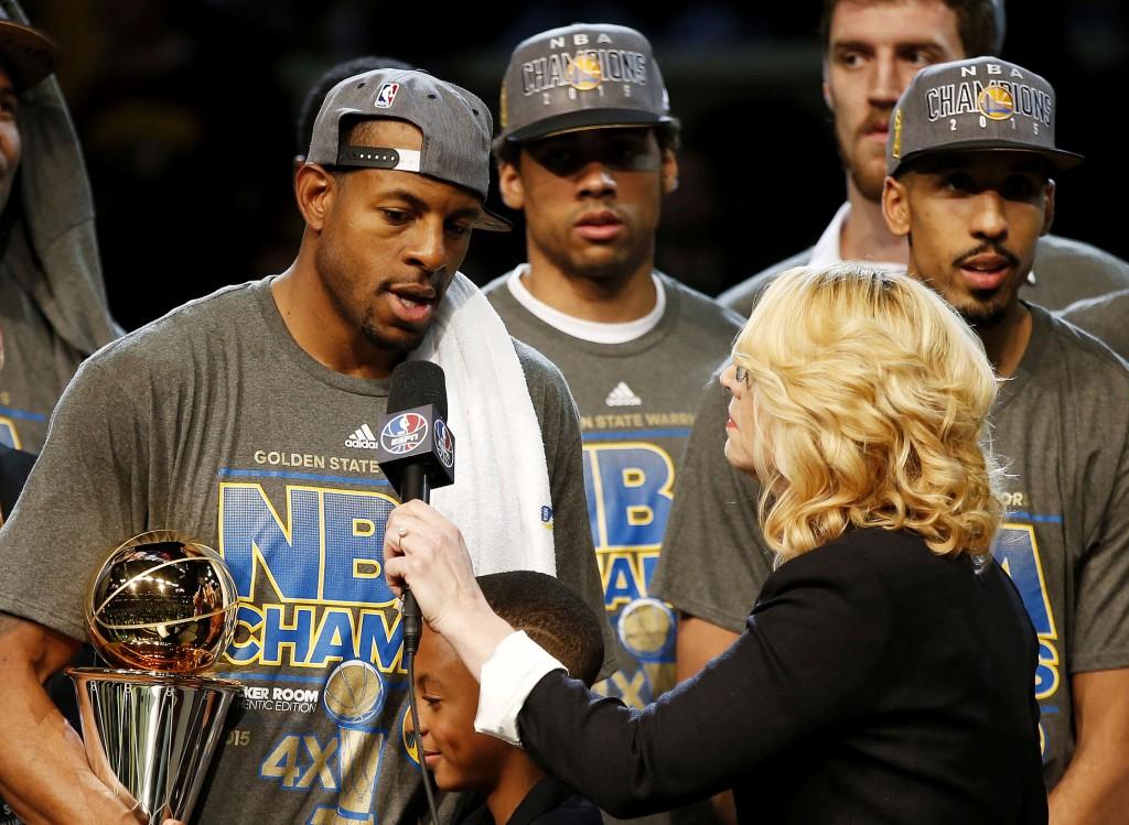 Doris Burke ottaa tunnelmia NBA:n finaalien MVP:ltä Andre Iguodalalta (Getty).