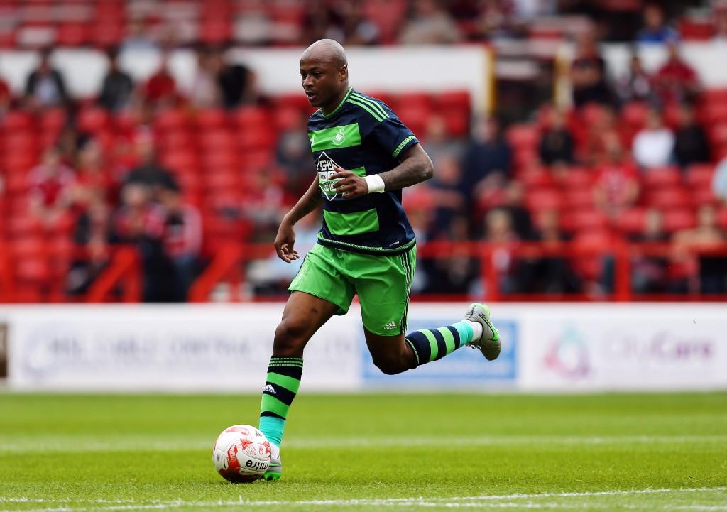 Andre Ayew voi osoittautua todelliseksi löydöksi Swansealle. Kuva: AOP