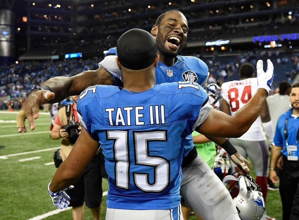 Calvin Johnson muodostaan yhdessä Golden Taten kanssa NFL:n parhaan laitahyökkääjä kaksikon (Getty)