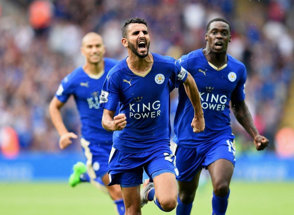 during the Barclays Premier League match between Leicester City and Tottenham Hotspur at The King Power Stadium on August 22, 2015 in Leicester, England.