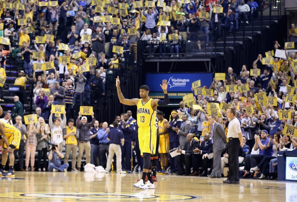 Paul George palaa NBA-parketille keskiviikon ja torstain välisenä yönä (Getty images).
