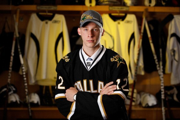 PITTSBURGH, PA - JUNE 23: Esa Lindell, 74th overall pick by the Dallas Stars, poses for a portrait during the 2012 NHL Entry Draft at Consol Energy Center on June 23, 2012 in Pittsburgh, Pennsylvania. (Photo by Gregory Shamus/NHLI via Getty Images)