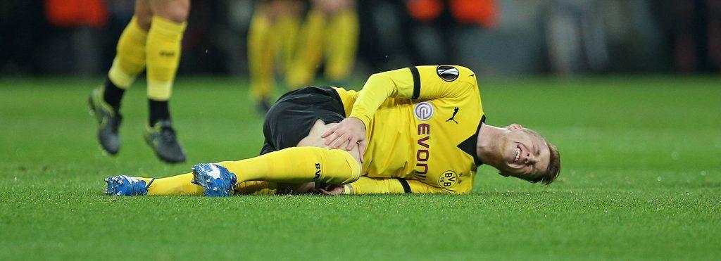 Marco Reus on kärsinyt loukkaantumisista läpi uransa. Nyt väliin jää Revierderby. Kuva: AOP