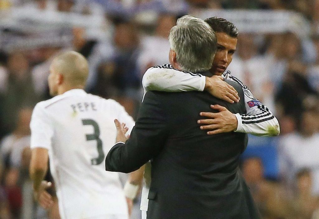 Ancelottin välit joukkueen supertähtiin oli kunnosa. Kuva: AOP