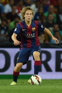 GENEVA, SWITZERLAND - AUGUST 06: Alen Halilovic of FC Barcelona in action during the pre-season friendly match between FC Barcelona and SSC Napoli on August 6, 2014 in Geneva, Switzerland. (Photo by Valerio Pennicino/Getty Images)