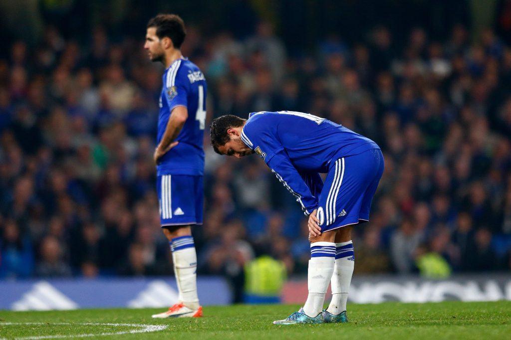 Viime kaudella loistaneet Hazard ja Fabregas ovat tuskailleet tänä syksynä. Kuva: Getty